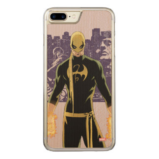 Iron Fist City Silhouette Carved iPhone 7 Plus Case