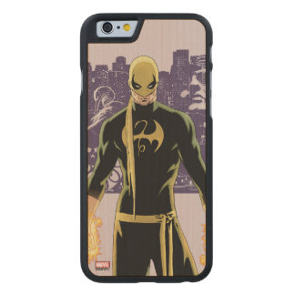 Iron Fist City Silhouette Carved Maple iPhone 6 Case