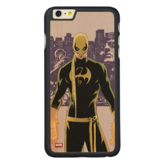 Iron Fist City Silhouette Carved Maple iPhone 6 Plus Case