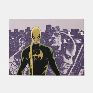 Iron Fist City Silhouette Doormat