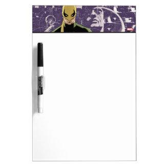 Iron Fist City Silhouette Dry Erase Board