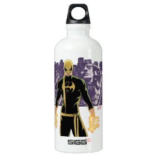 Iron Fist City Silhouette Water Bottle