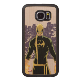 Iron Fist City Silhouette Wood Phone Case