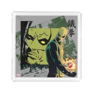 Iron Fist Comic Book Graphic Acrylic Tray