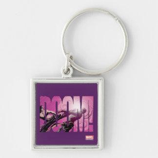 Iron Fist Doom Silver-Colored Square Keychain