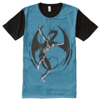 Iron Fist Dragon Landing All-Over-Print T-Shirt