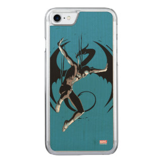 Iron Fist Dragon Landing Carved iPhone 7 Case