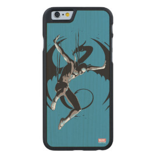 Iron Fist Dragon Landing Carved Maple iPhone 6 Case