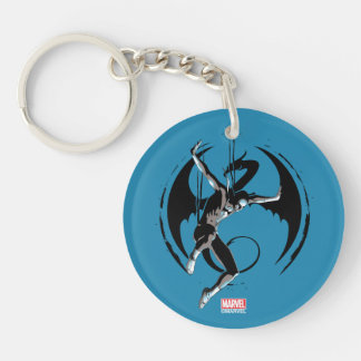 Iron Fist Dragon Landing Double-Sided Round Acrylic Keychain