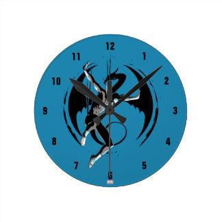 Iron Fist Dragon Landing Round Clock