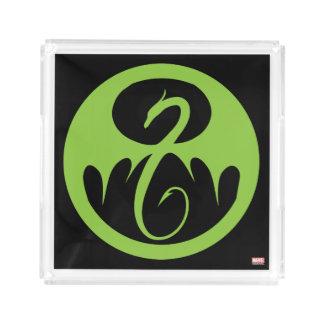 Iron Fist Logo - Green Acrylic Tray