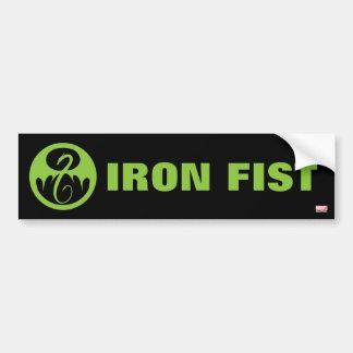 Iron Fist Logo - Green Bumper Sticker