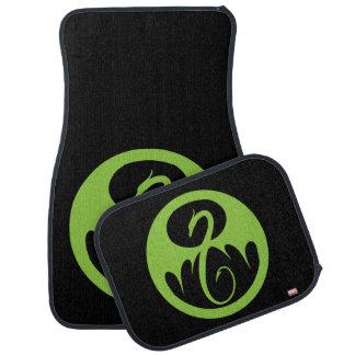 Iron Fist Logo - Green Car Mat