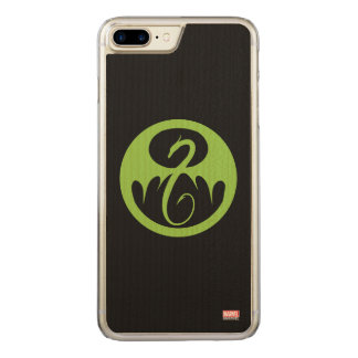 Iron Fist Logo - Green Carved iPhone 8 Plus/7 Plus Case