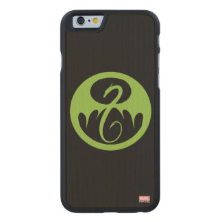 Iron Fist Logo - Green Carved Maple iPhone 6 Case
