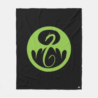 Iron Fist Logo - Green Fleece Blanket