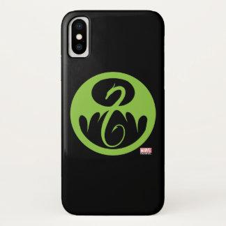 Iron Fist Logo - Green iPhone X Case