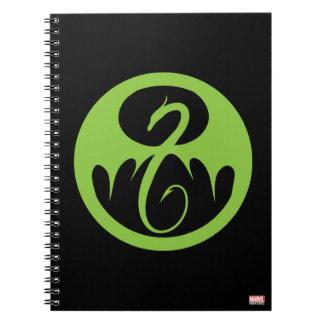 Iron Fist Logo - Green Notebook