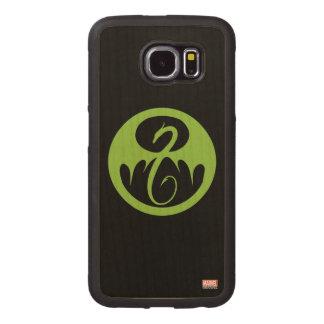 Iron Fist Logo - Green Wood Phone Case