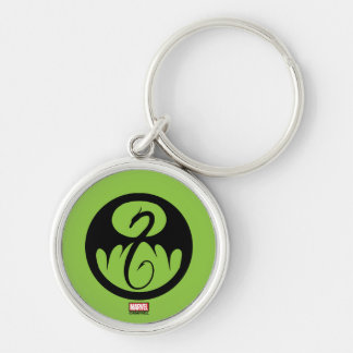 Iron Fist Logo Silver-Colored Round Keychain