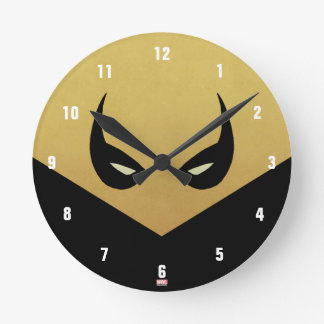 Iron Fist Mask Round Clock
