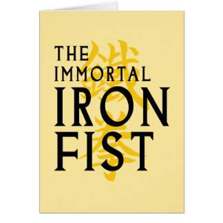 Iron Fist Name Graphic Card
