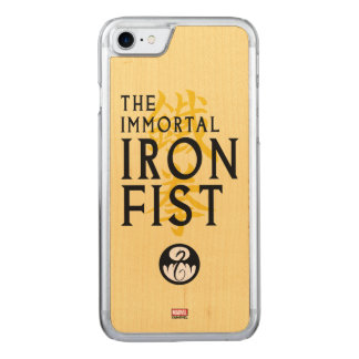 Iron Fist Name Graphic Carved iPhone 7 Case