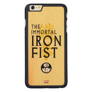 Iron Fist Name Graphic Carved Maple iPhone 6 Plus Case