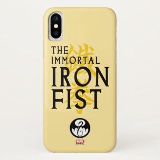 Iron Fist Name Graphic iPhone X Case