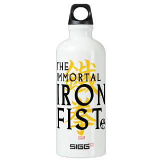 Iron Fist Name Graphic Water Bottle