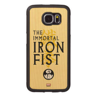 Iron Fist Name Graphic Wood Phone Case