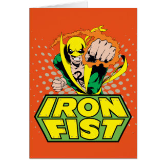 Iron Fist Retro Character Art Graphic Card