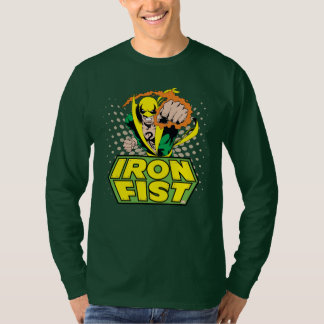 Iron Fist Retro Character Art Graphic T-Shirt