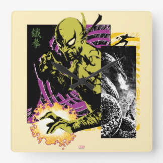 Iron Fist the Living Weapon Square Wall Clock