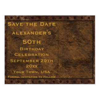 Iron Framed Effect Boys Birthday Double Sided Postcard