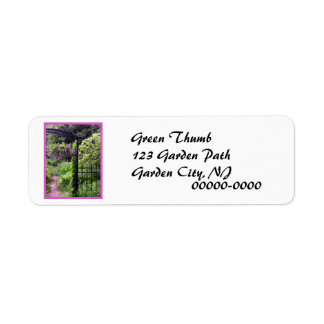 Iron Garden Return Address Label