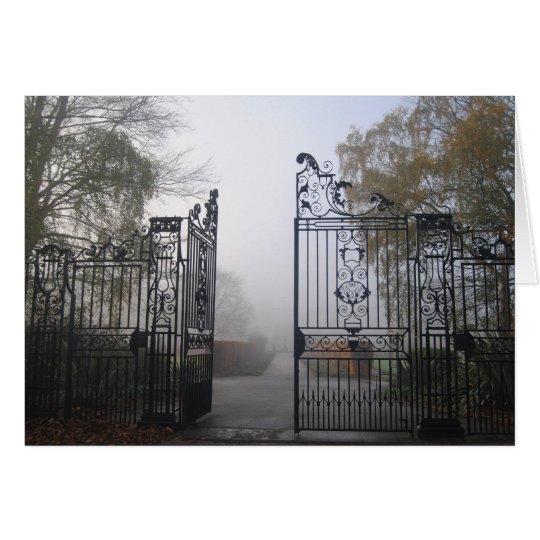 Iron gate card