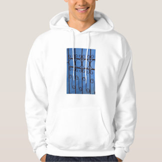 Iron gate pattern in blue, Cuba Hoodie
