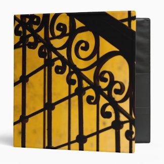 Iron gate pattern in yellow, Cuba Binder