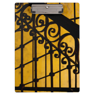 Iron gate pattern in yellow, Cuba Clipboard