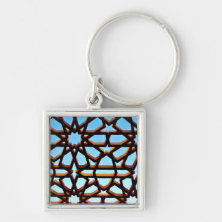 Iron Gate Silver-Colored Square Keychain