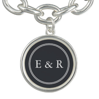 Iron Grille Grey with White Borders and Text Bracelets
