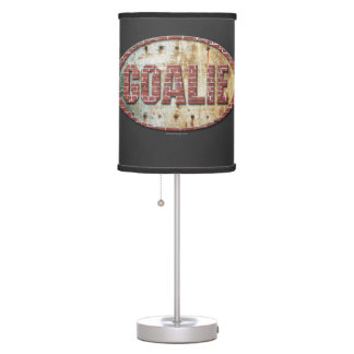 Iron Hockey Goalie Table Lamp