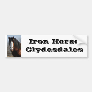 Iron Horse Clydesdales Bumpersticker Bumper Sticker