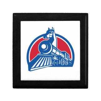Iron Horse Locomotive Circle Retro Gift Box