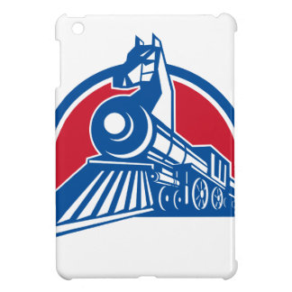 Iron Horse Locomotive Circle Retro iPad Mini Cover