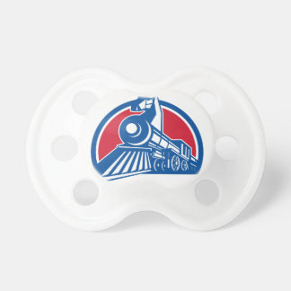 Iron Horse Locomotive Circle Retro Pacifier