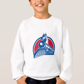 Iron Horse Locomotive Circle Retro Sweatshirt