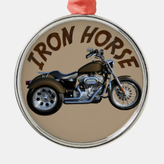 Iron Horse Trike Silver-Colored Round Ornament