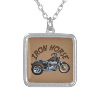 Iron Horse Trike Silver Plated Necklace
